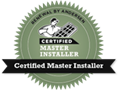 Certified Master Installers Logo