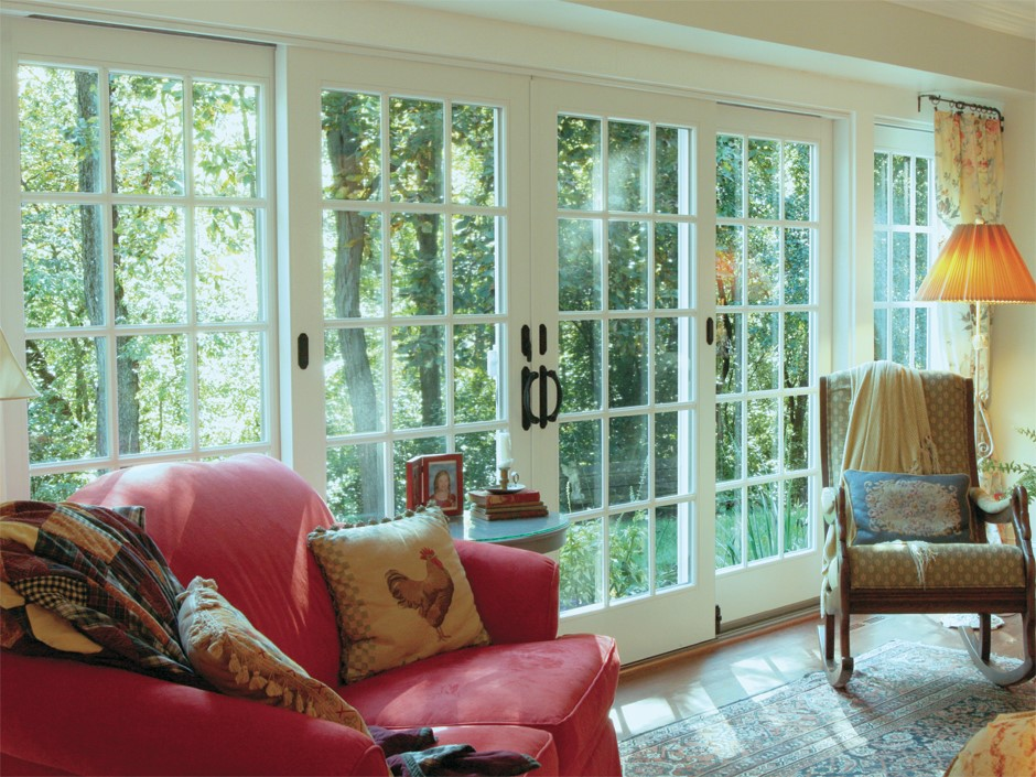 Traditional french gliding replacement patio doors for Andersen french sliding doors