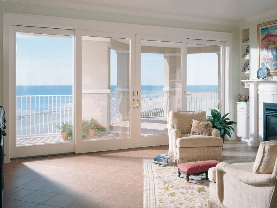 Replace sliding door with french doors for Replacement french doors